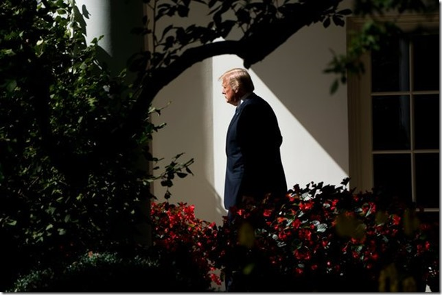 Trump All alone and feeling blue Doug Mills December 2017 NYT