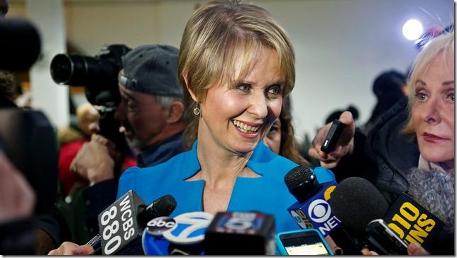 Cynthia Nixon Announces Bebeto Matthews AP via WABC 7