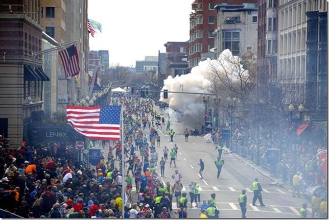 Boston Marathon Bombing Blast Tom Green Zuma Press via NBC News