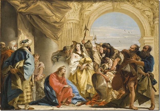 Bible Tiepolo Woman Taken in Adultery