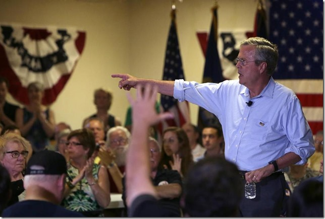 Jeb Bush NH VFW Boston Globe Chin