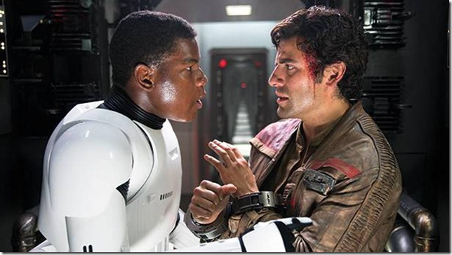 Star Wars VII Finn and Poe Porthos and Aramis
