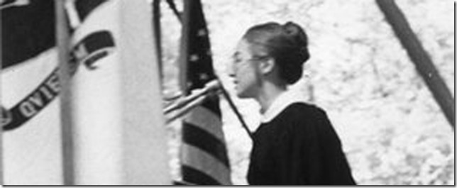 HRC Hillary speaking at her commencement 1969