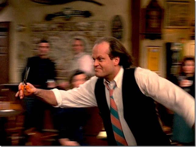 Cheers Frasier running with scissors (2)