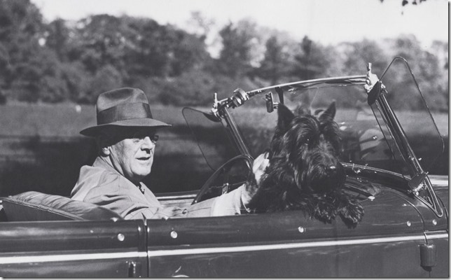 FDR Fala takes a drive WH Historical Assn LOC
