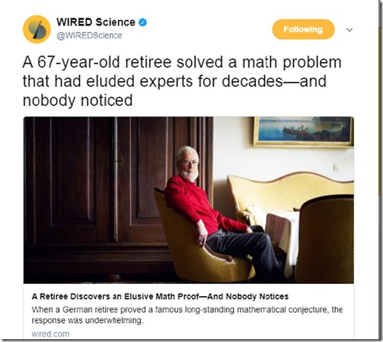 Wired Retiree solves math problem