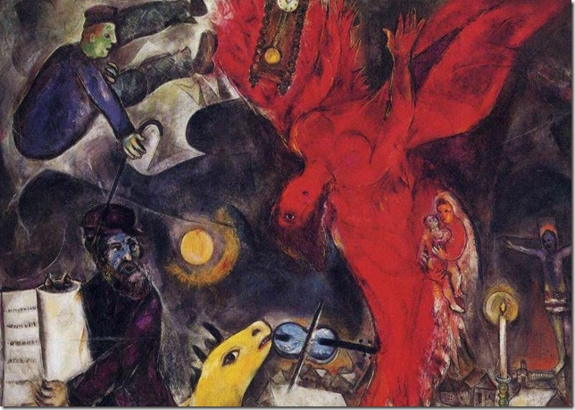 painting The Falling Angel Chagall MarcChagall net
