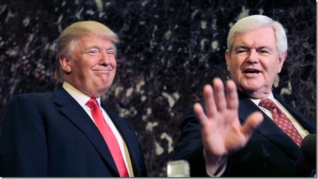 Trump Peas in a Pod Trump Newt Seth Wenig AP via Daily Beast