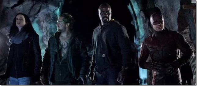 Defenders Jessica Danny Luke and Daredevil