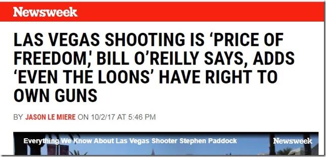 Snip 2017 10 02 Newsweek headline OReilly Price of Freedom