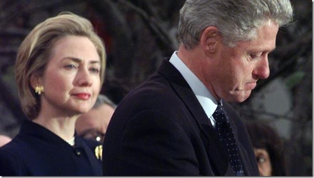 HRC Hillary watching Bill come clean AP via LA Times