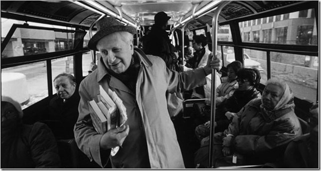 NYT Studs Terkel On the bus Chicago Chris Walker Chicago Tribune via AP via NYT