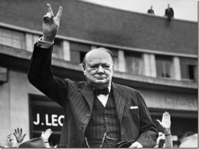 Churchill Rallying the English people