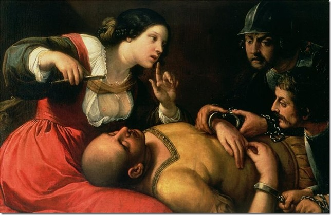Bible Samson and Delilah Caravaggio 2