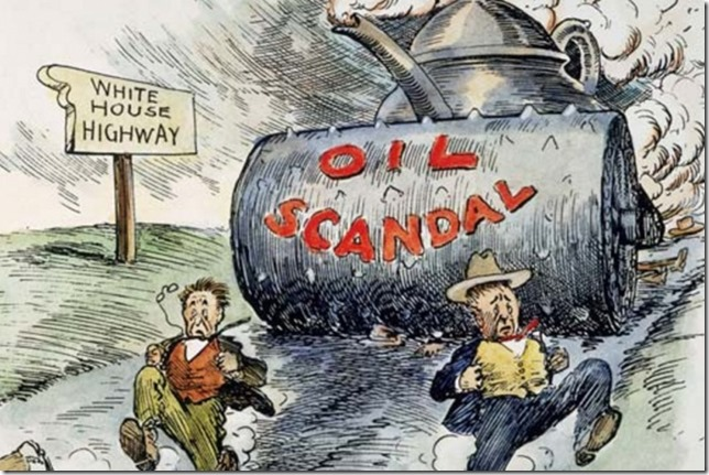 Cartoon Juggernaut Teapot Dome Clifford Berryman 1924 Granger Collection via Kids Britannica