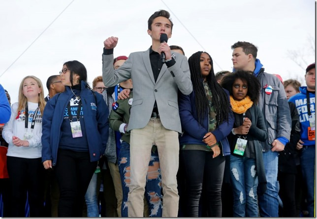 March for Our Lives David Hogg in DC March 24 2018 Jonathan Ernst Reuters via Houton Public Media