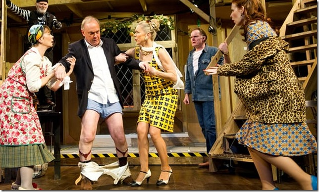 Farce Noises Off at the Old Vic 2011 Tristram Kenton The Guardian