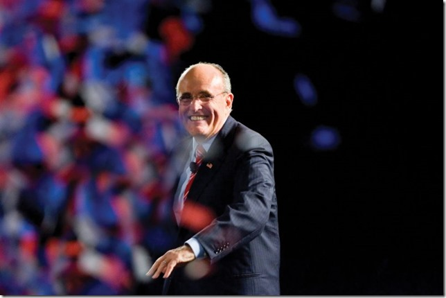 Rudy Giuliani at SDSC in August 2007 Photo by user 1DmkIIN via Wikipedia