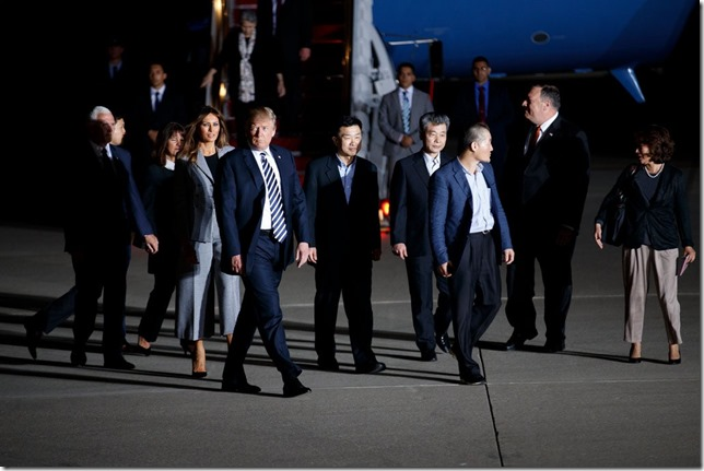 Trump Trump and Korea Prisoners Tom Brenner New York Times
