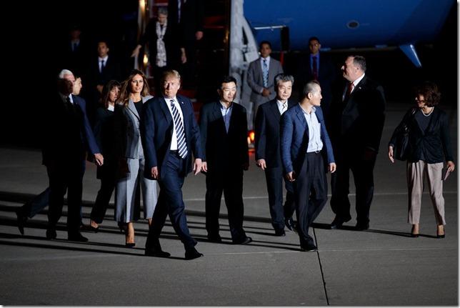 Trump Trump and Korea Prisoners Tom Brenner New York Times