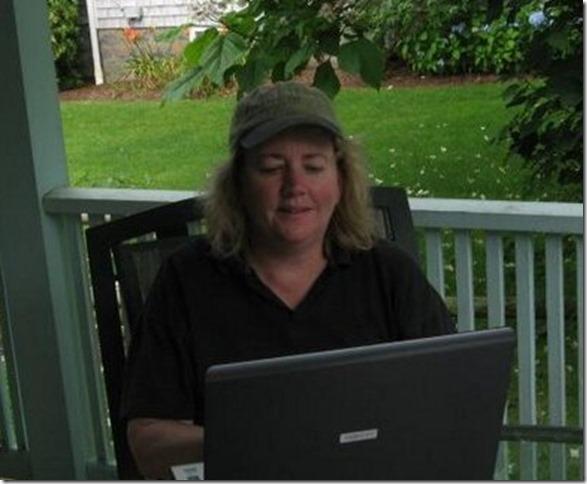 Mrs M hard at work hard at play
