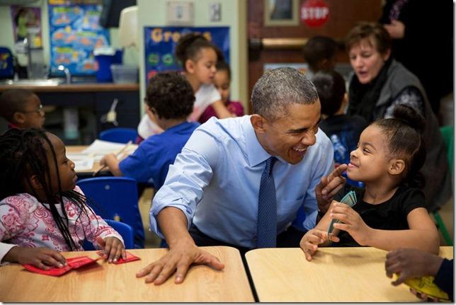 Obama Head Start Lawrence Kansas Pete Souza