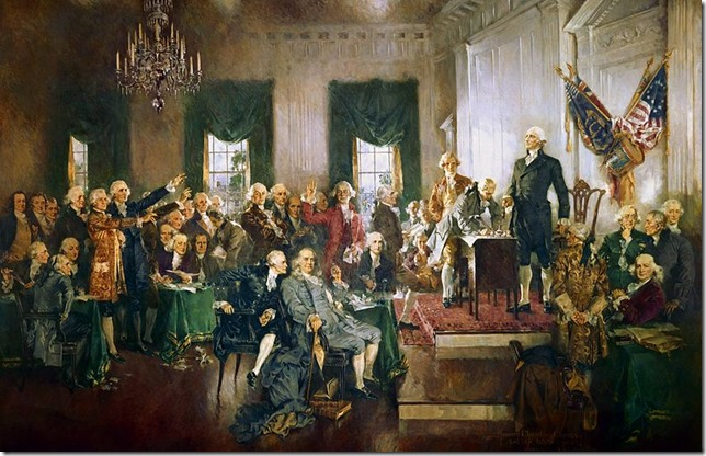Washington Scene at the Signing of the Constitution Howard Chandler Christy US House of Representatives Wikipedia