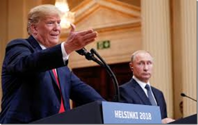 Trump You can hardly see his lips move Trump and Putin in Helskinki Kevin Lamarque Reuters via the Nation