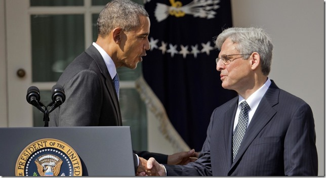 Obama President Obama and Merrick Garland March 2016 AP Photo via Politico