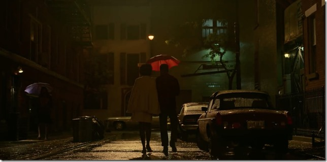 Beale Walking in the rain Street Kiki Layne Stephan James