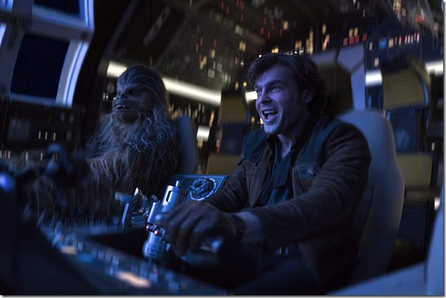 Star Wars Solo Chewie and Han together again for the first time
