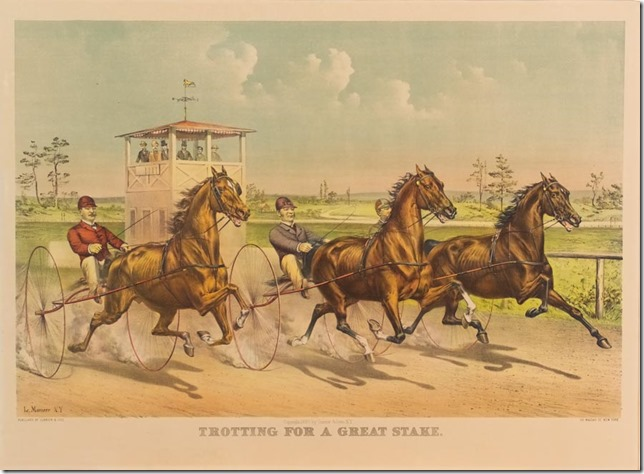 Currier and Ives Celebrated Horse Dexter Trotting for a Great Stake Springfield Museums