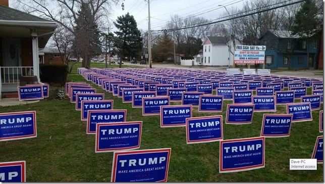 Trump Front Lawn West Carrolton OH Alex McGillis Twitter
