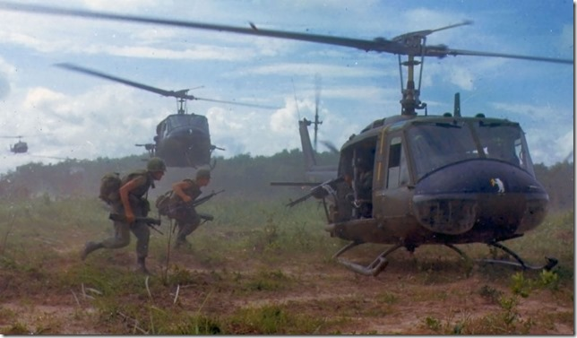 Vietnam War Soldiers running to board helicopters near Chu Chi 1966 National Archives Wikimedia