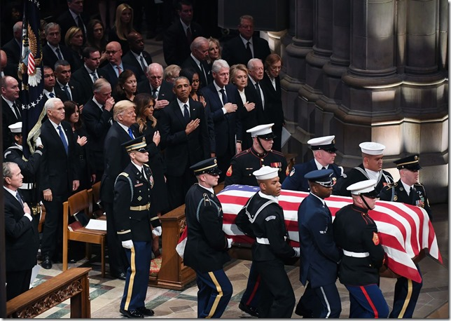 Bush GHWB Funeral Presidents salute a President Matt McClain Washington Post via LA Times
