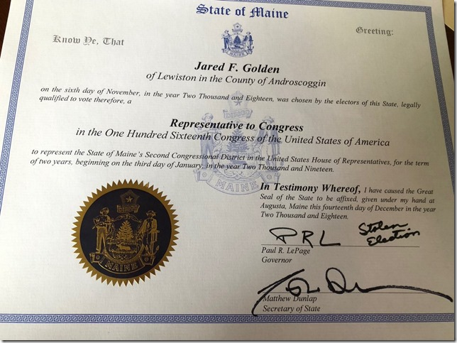 Politics ME governor leaves message on Congressman elects certifcate LePages own twitter TL