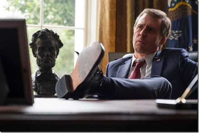 Vice Sam Rockwell as Bush in characteristic pose