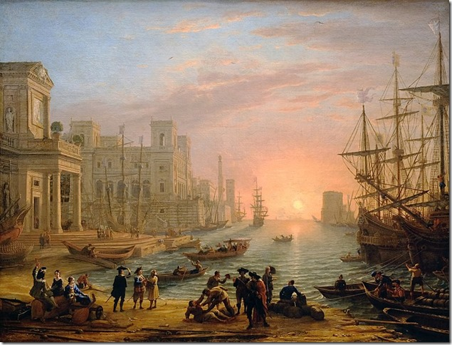Painting Seaport at Sunset Claude Lorrain National Gallery London Wikipedia