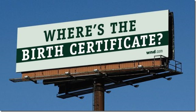 Obama Billboard Birth Certificate CNN