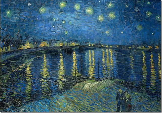 Painting Van Gogh Starry Night Over the Rhone Musee d Orsay via Wikipedia