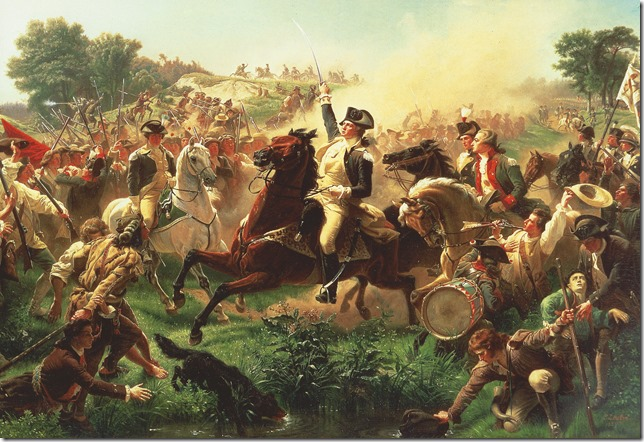 Washington George Washington at the Battle of Monmouth Emanuel Leutze 1857 Monmouth County Historical Association via Mount Vernon