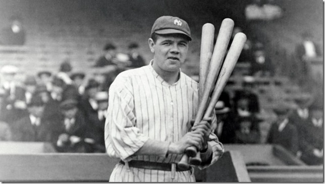 Baseball Babe Ruth Mischief in his eye
