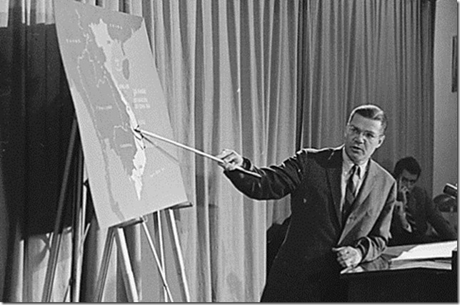 Vietnam War Robert McNamara Tonkin Gulf Press Conference Feb 65 National Archives via Washington Post