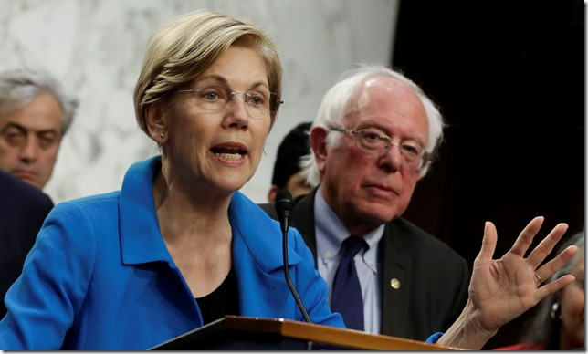 Warren Liz and Bernie Yuri Gripas Reuters via the Guardian