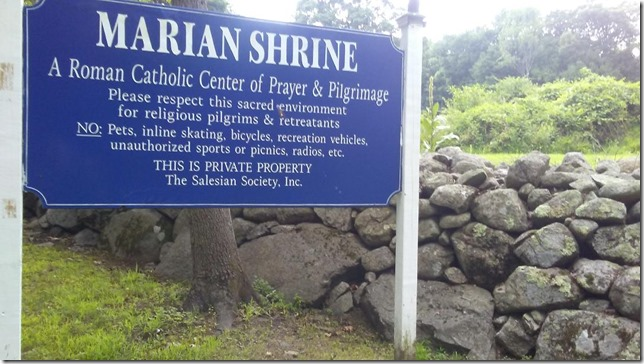 2018 07 16 Marian Shrine Please respect this sacred environment