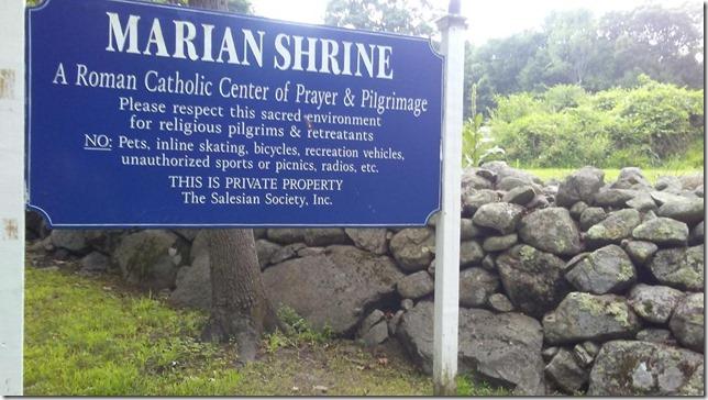 2018 07 16 Marian Shrine Please respect this sacred environment