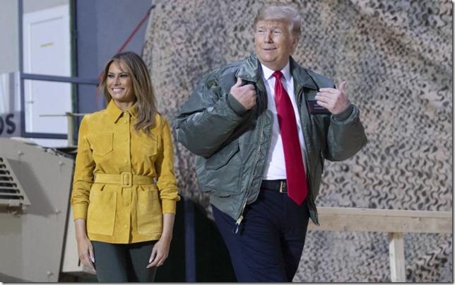 Trump Buy More Trump Melania and Trump in Iraq December 26 2018 Saul Loeb AFP via Newsweek