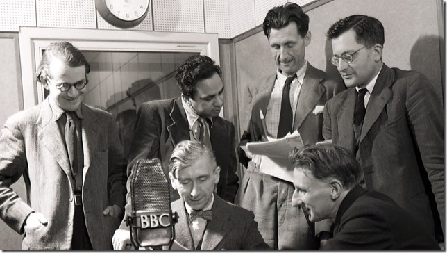 Orwell With fellow members of the BBCs Eastern Service during WWII courtesy of the BBC