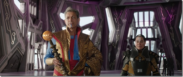 Thor Ragnarock Jeff Goldblum as the Grandmaster a living cartoon