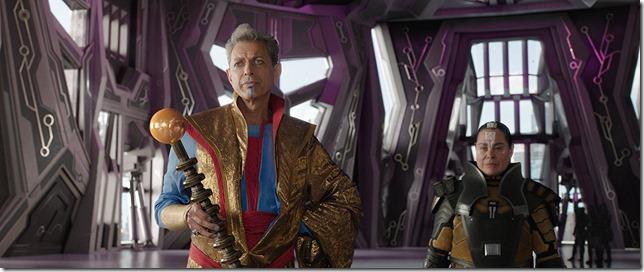 Thor Ragnarock Jeff Goldblum as the Grandmaster a living cartoon